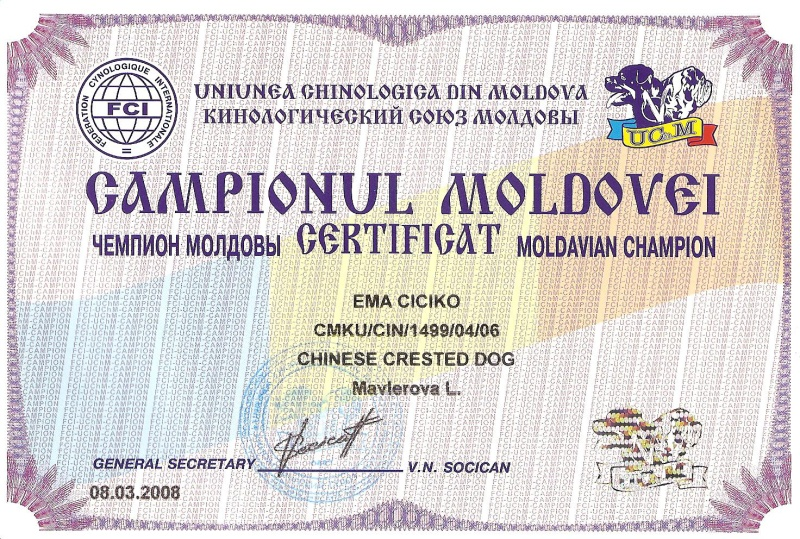 ŠAMPION MOLDAVIE
