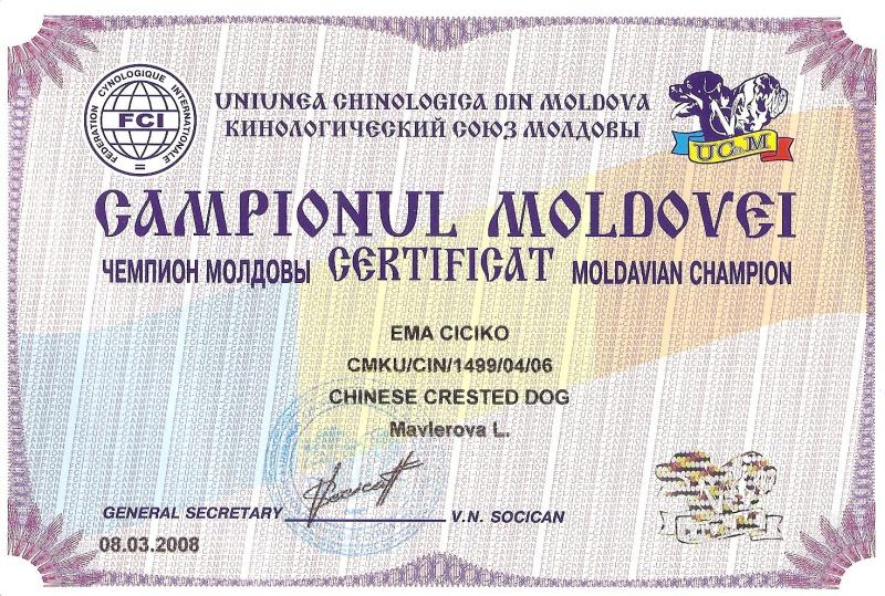 ŠAMPION MOLDAVIE
